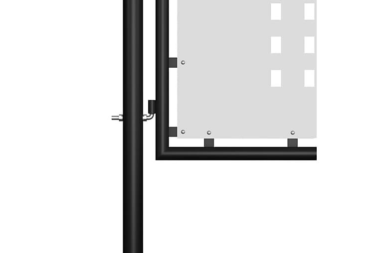 Puutarhaportti teräs 350x125 cm musta - Musta - Piha - Puutarhakoristeet & pihatarvikkeet - Aidat & portit