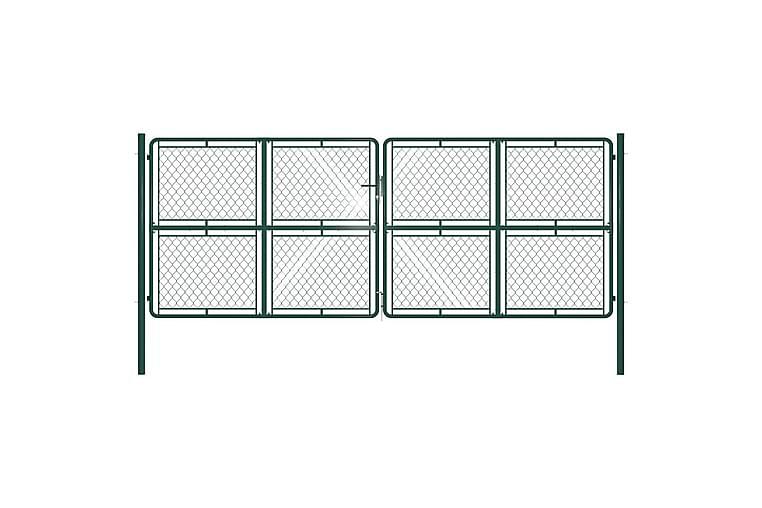 Puutarhaportti teräs 400x150 cm vihreä - Vihreä - Piha - Puutarhakoristeet & pihatarvikkeet - Aidat & portit