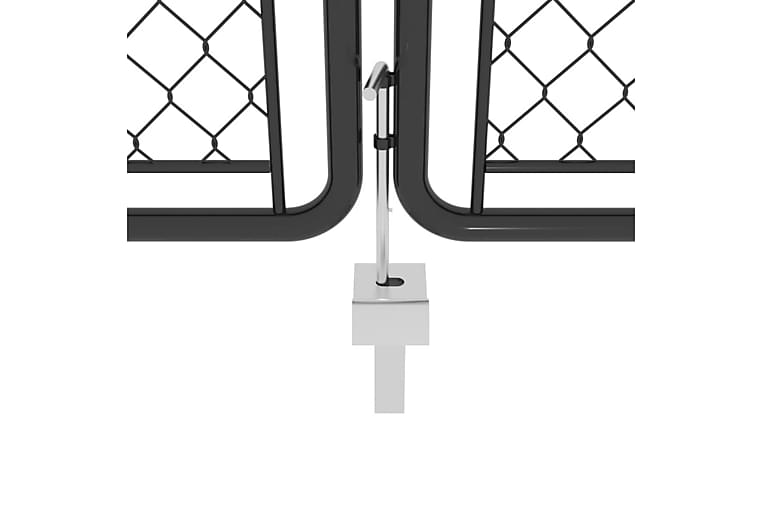 Puutarhaportti teräs 400x200 cm antrasiitti - Antrasiitti - Piha - Puutarhakoristeet & pihatarvikkeet - Aidat & portit