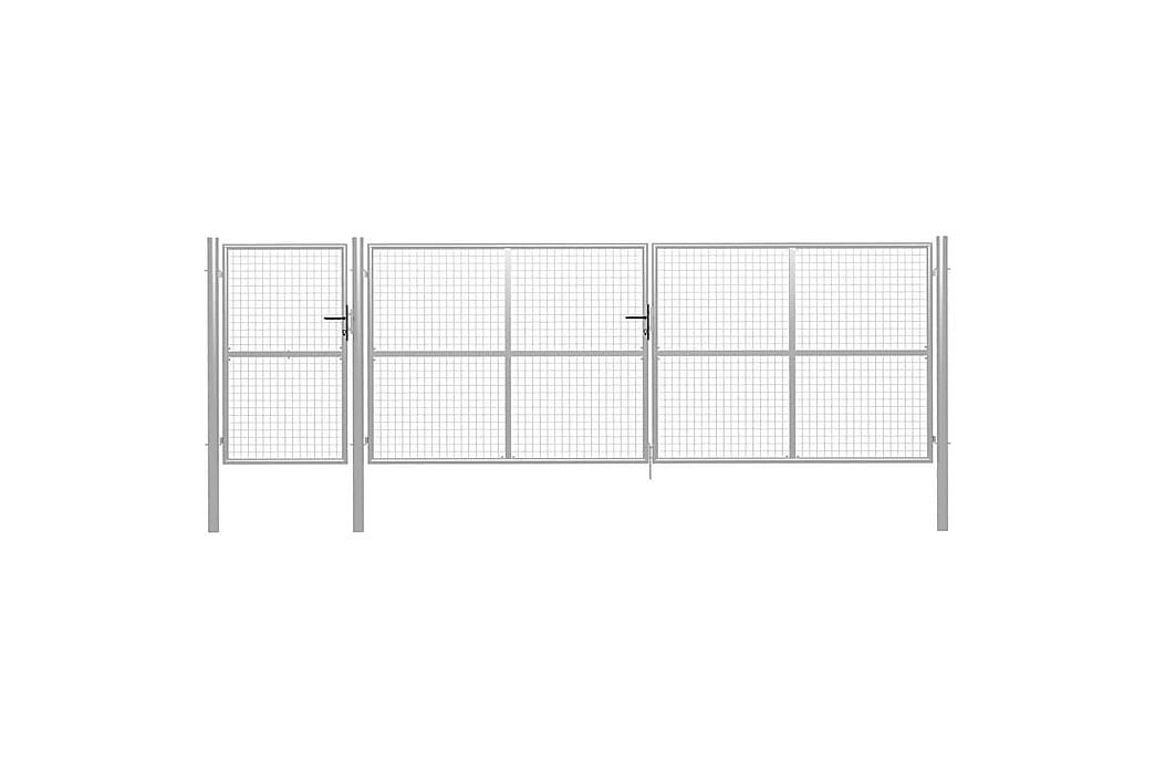 Puutarhaportti teräs 500x150 cm hopea - Hopea - Piha - Puutarhakoristeet & pihatarvikkeet - Aidat & portit