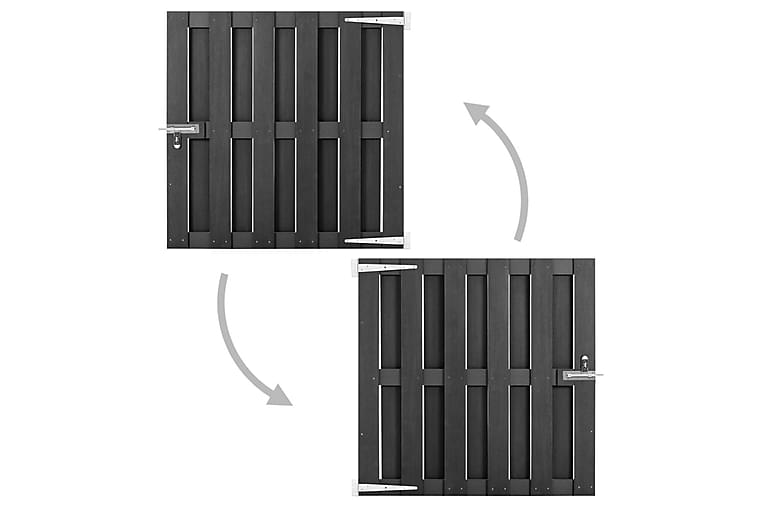 Puutarhaportti WPC 100x100 cm harmaa - Harmaa - Piha - Puutarhakoristeet & pihatarvikkeet - Aidat & portit