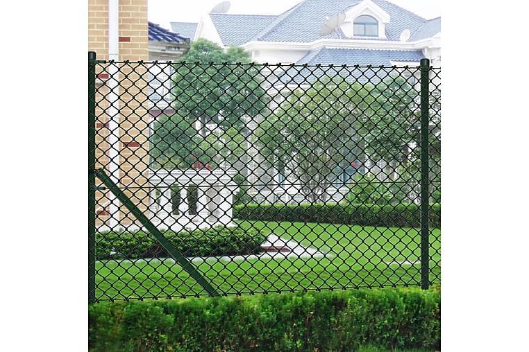 Verkkoaita tolpilla galvanoitu teräs 1,25x15 m vihreä - Vihreä - Piha - Puutarhakoristeet & pihatarvikkeet - Aidat & portit