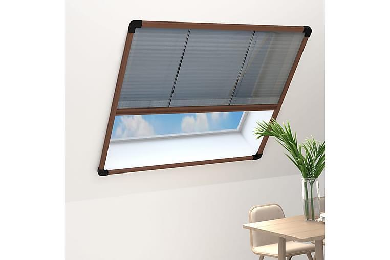 Laskostettu hyönteisverkko ikkunaan alumiini 120x160 cm - Ruskea - Piha - Puutarhakoristeet & pihatarvikkeet - Hyttysverkot