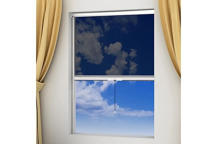 Valkoinen Alasrullattava Hyönteisverho Ikkunaan 100 x 170 cm - Valkoinen - Piha - Puutarhakoristeet & pihatarvikkeet - Hyttysverkot