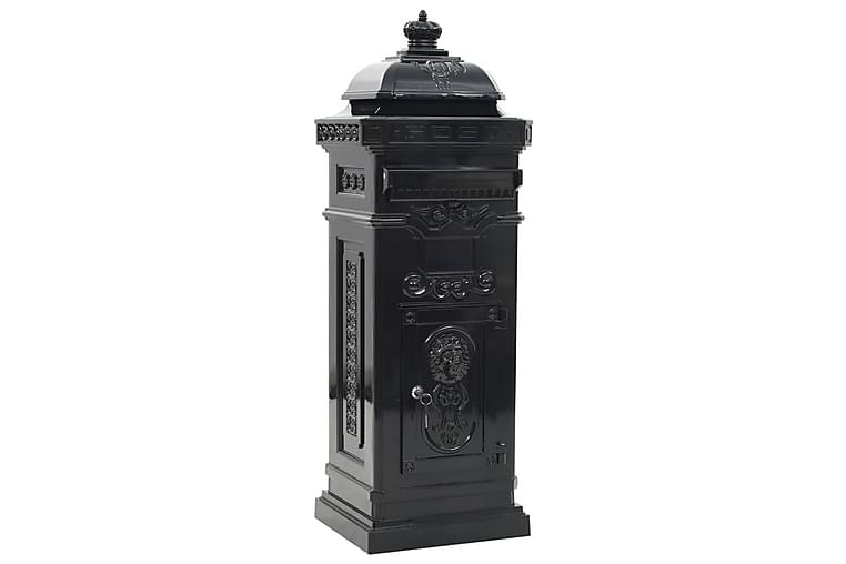 Postilaatikko pylväs alumiini vintagetyyli ruostumaton musta - Musta - Piha - Puutarhakoristeet & pihatarvikkeet - Postilaatikot