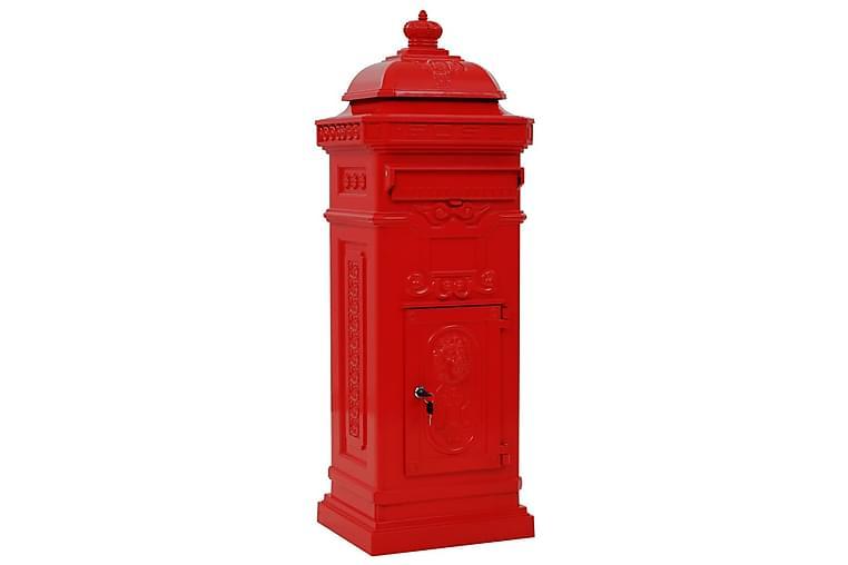 Postilaatikko pylväsmalli alumiini ruostumaton vihreä - Punainen - Piha - Puutarhakoristeet & pihatarvikkeet - Postilaatikot