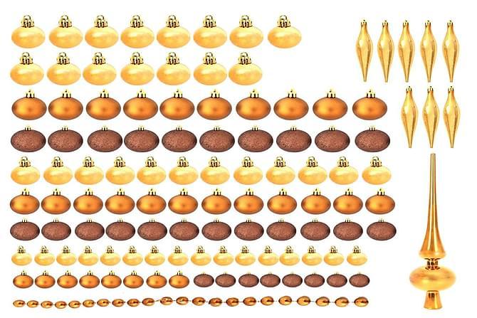 Joulukuusenpallot 113 kpl 6 cm ruskea/pronssi/kulta - Monivärinen - Piha - Puutarhakoristeet & pihatarvikkeet - Koriste-esineet