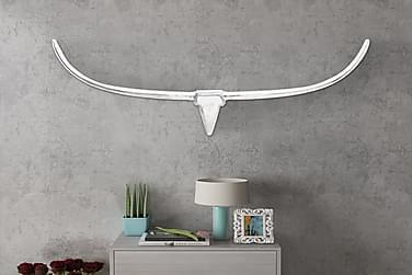 Seinälle kiinnitettävä alumiininen Häränpää koriste 125 cm