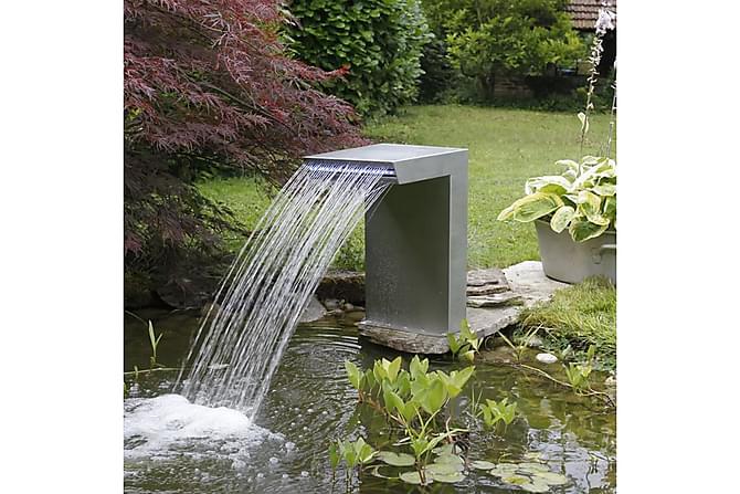 Ubbink Vesiputous Straight hopea 7504636 - Hopea - Piha - Puutarhakoristeet & pihatarvikkeet - Suihkulähteet