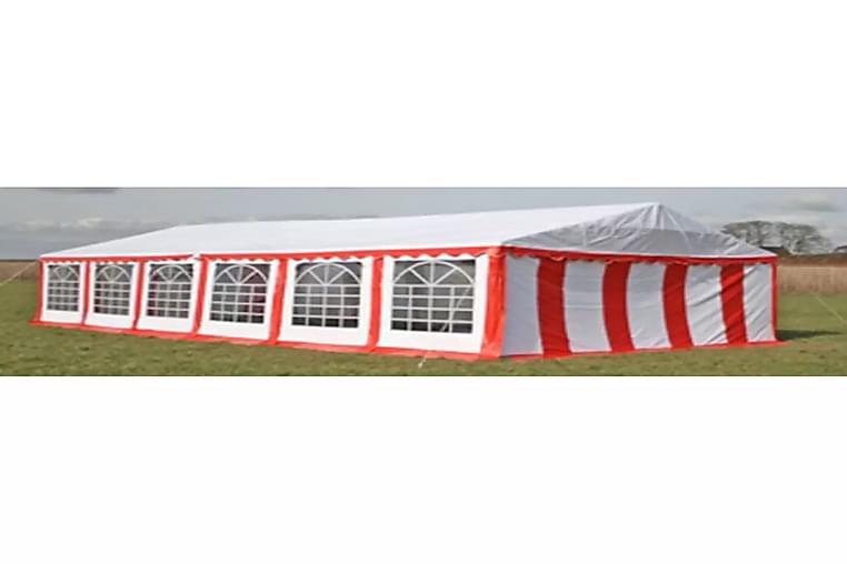 Juhlateltta 12 x 6 m punainen - Punainen - Piha - Ulkosäilytys - Varastoteltat