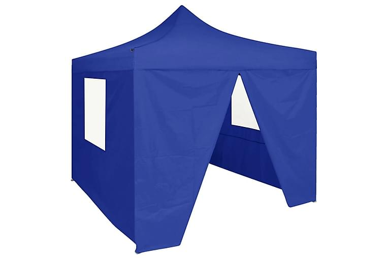 Kokoontaittuva juhlateltta 4 sivuseinää 2x2 m teräs sininen - Sininen - Piha - Ulkosäilytys - Varastoteltat