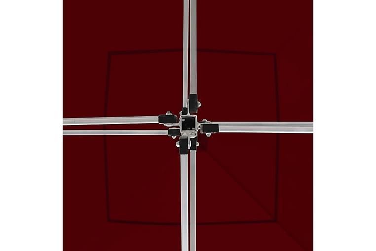 Kokoontaittuva juhlateltta alumiini 2x2 m viininpunainen - Piha - Ulkosäilytys - Varastoteltat
