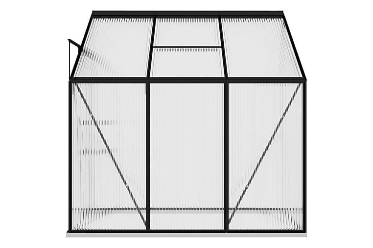 Kasvihuone antrasiitti alumiini 3,97 m³ - Antrasiitti - Piha - Viljely & puutarhanhoito - Kasvihuoneet