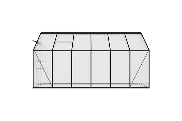 Kasvihuone antrasiitti alumiini 7,77 m³ - Antrasiitti - Piha - Viljely & puutarhanhoito - Kasvihuoneet