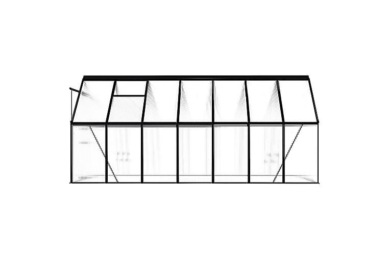 Kasvihuone antrasiitti alumiini 8,17 m³ - Antrasiitti - Piha - Viljely & puutarhanhoito - Kasvihuoneet