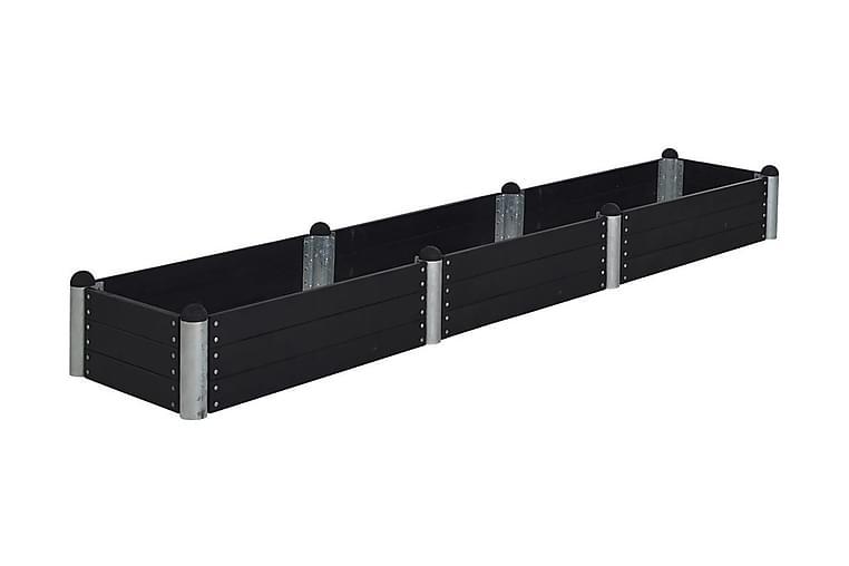 Pipe Viljelylaatikko 80x400 cm - Korkeus 36 cm - Musta - Piha - Viljely & puutarhanhoito - Kasvihuoneet