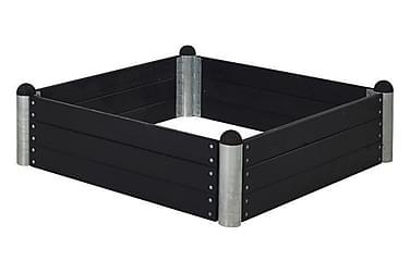 Pipe Viljelylaatikko 140x140 cm - Korkeus 36 cm - Musta