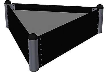 Pipe Viljelylaatikko 140x140x140 cm - Korkeus 36 cm - painek