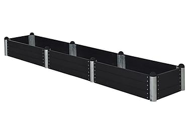 Pipe Viljelylaatikko 80x400 cm - Korkeus 36 cm - Musta