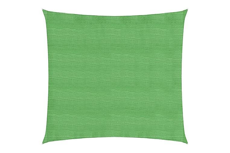 Aurinkopurje 160 g/m² vaaleanvihreä 5x5 m HDPE - Puutarhakalusteet - Aurinkosuojat - Aurinkopurjeet