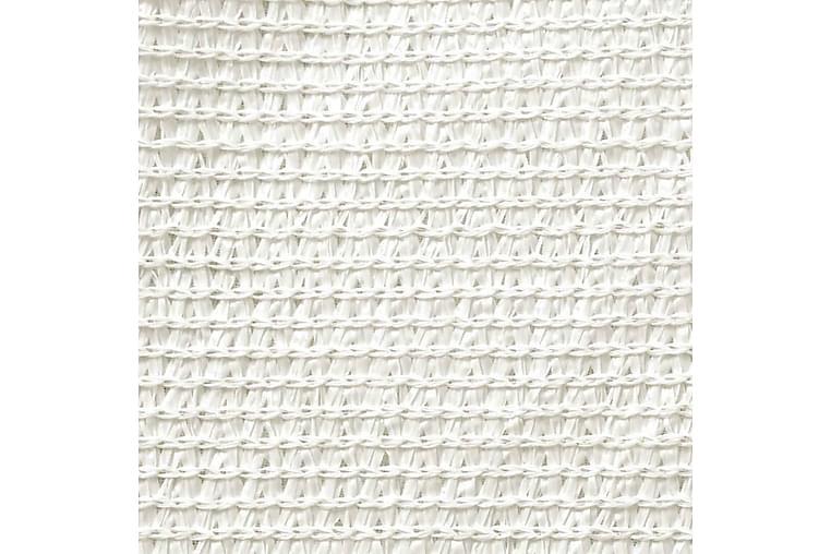 Aurinkopurje 160 g/m² valkoinen 5x6x6 m HDPE - Valkoinen - Puutarhakalusteet - Aurinkosuojat - Aurinkopurjeet