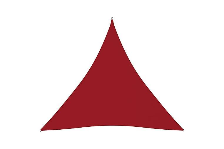 Aurinkopurje Oxford-kangas kolmio 3,6x3,6x3,6 m punainen - Punainen - Puutarhakalusteet - Aurinkosuojat - Aurinkopurjeet