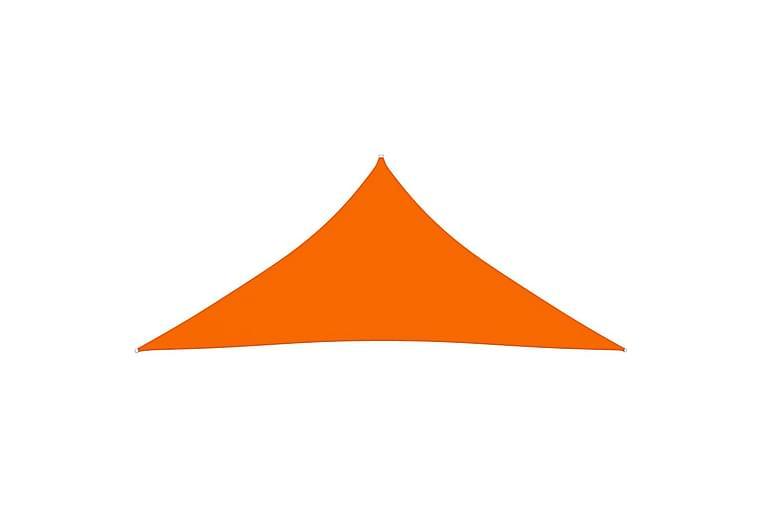 Aurinkopurje Oxford-kangas kolmio 5x6x6 m oranssi - Oranssi - Puutarhakalusteet - Aurinkosuojat - Aurinkopurjeet