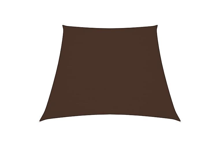 Aurinkopurje Oxford-kangas puolisuunnikas 3/4x3 m ruskea - Puutarhakalusteet - Aurinkosuojat - Aurinkopurjeet