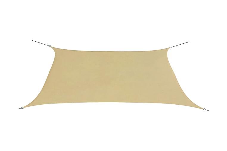 Aurinkopurje Oxford-kangas suorakaide 2x4 m Beige - Beige - Puutarhakalusteet - Aurinkosuojat - Aurinkopurjeet