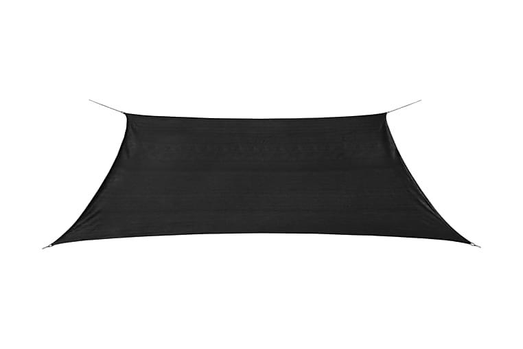 Aurinkovarjo Purje HDPE Suorakaide 2x4 m Antrasiitti - Antrasiitti - Puutarhakalusteet - Aurinkosuojat - Aurinkopurjeet