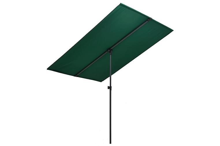 Aurinkovarjo alumiinitanko 180x130 cm vihreä - Vihreä - Puutarhakalusteet - Aurinkosuojat - Aurinkovarjot