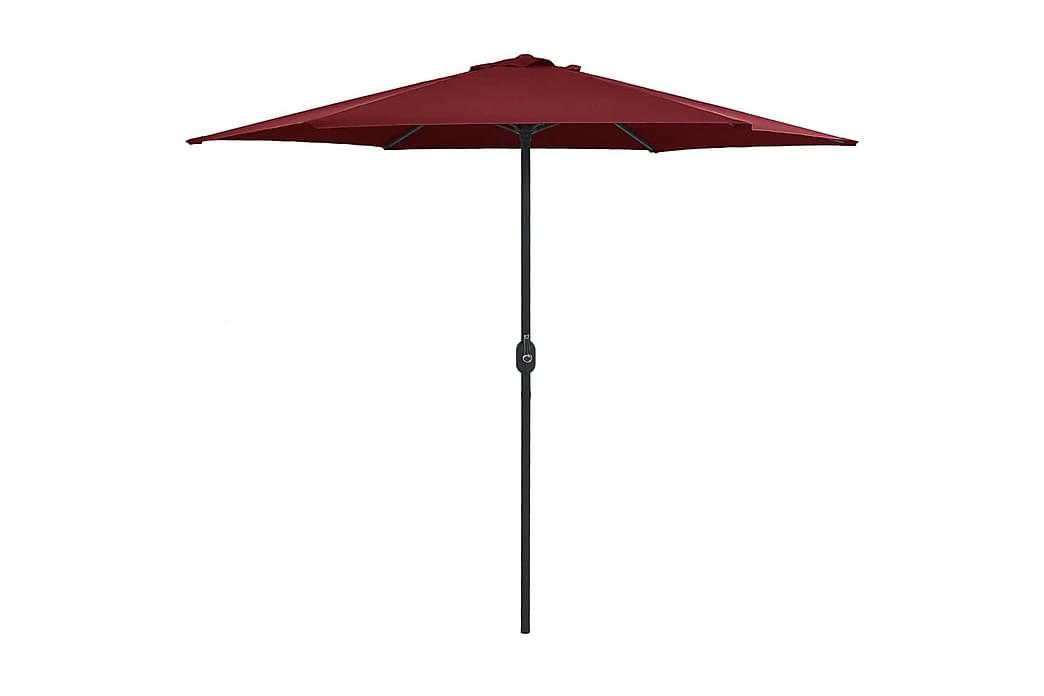 Aurinkovarjo alumiinitanko 270x246 cm viininpunainen - Punainen - Puutarhakalusteet - Aurinkosuojat - Aurinkovarjot