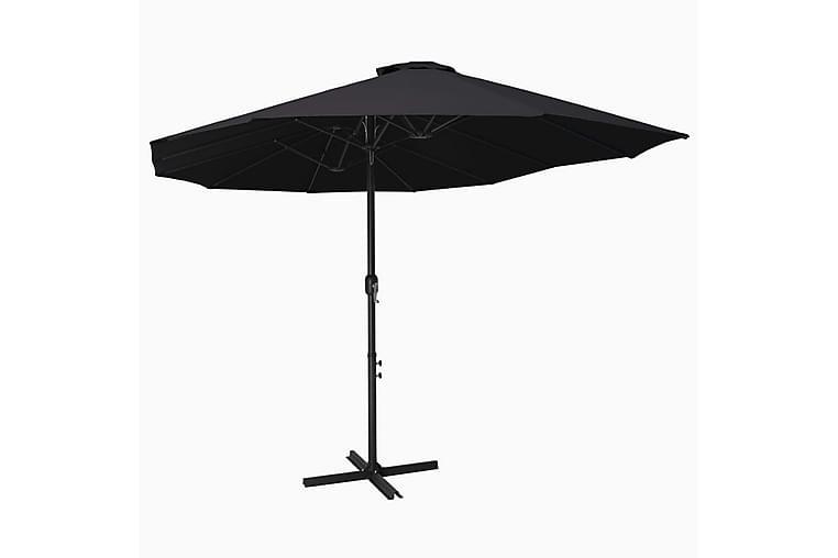 Aurinkovarjo alumiinitanko 460x270 cm musta - Musta - Puutarhakalusteet - Aurinkosuojat - Aurinkovarjot