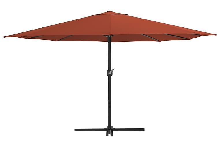 Aurinkovarjo alumiinitanko 460x270 cm terrakotta - Oranssi - Puutarhakalusteet - Aurinkosuojat - Aurinkovarjot