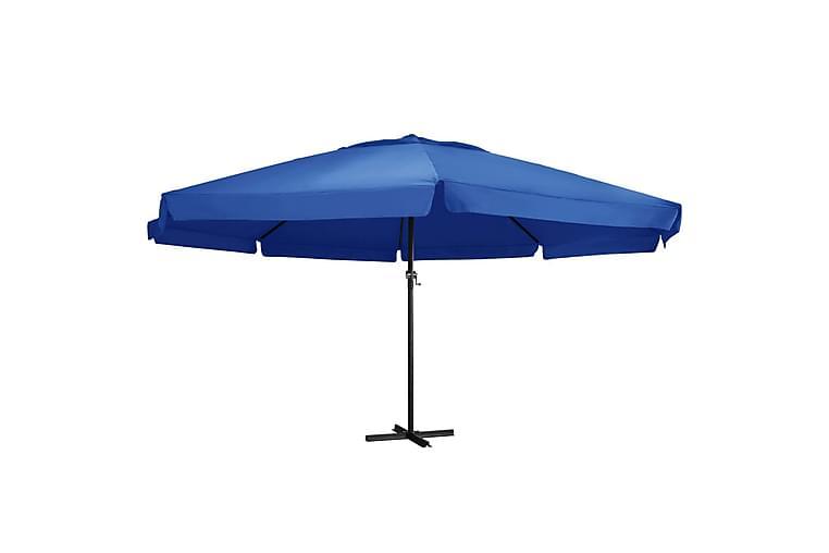 Aurinkovarjo alumiinitanko 600 cm taivaansininen - Sininen - Puutarhakalusteet - Aurinkosuojat - Aurinkovarjot