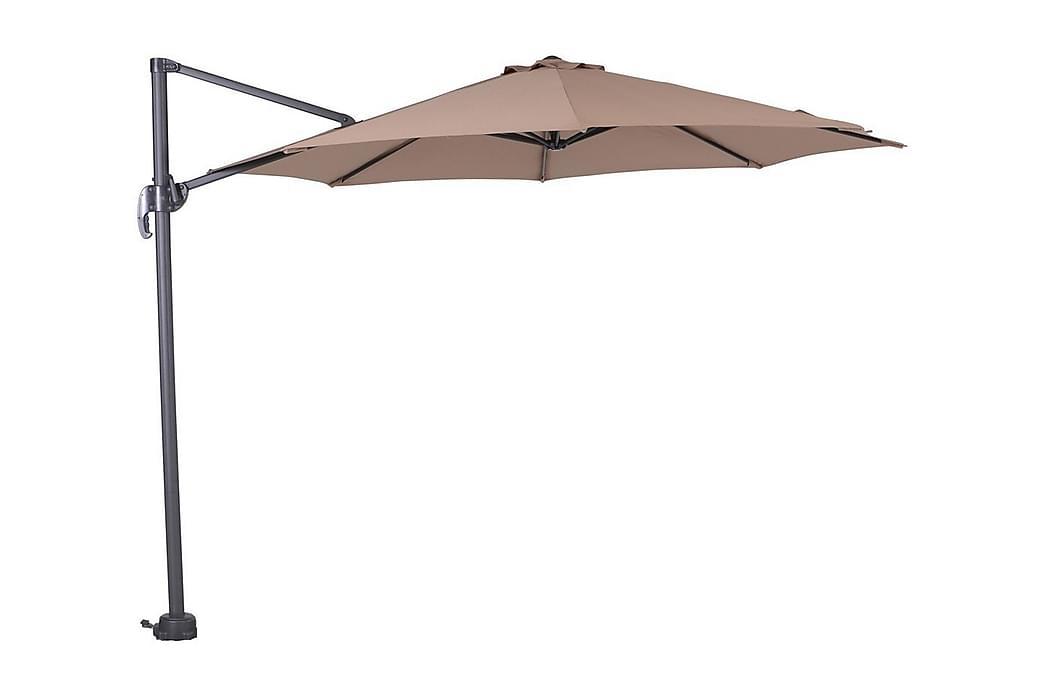 AUrinkovarjo Hawaii 300 cm Musta/ Taupe - Garden Impressions - Puutarhakalusteet - Aurinkosuojat - Aurinkovarjot