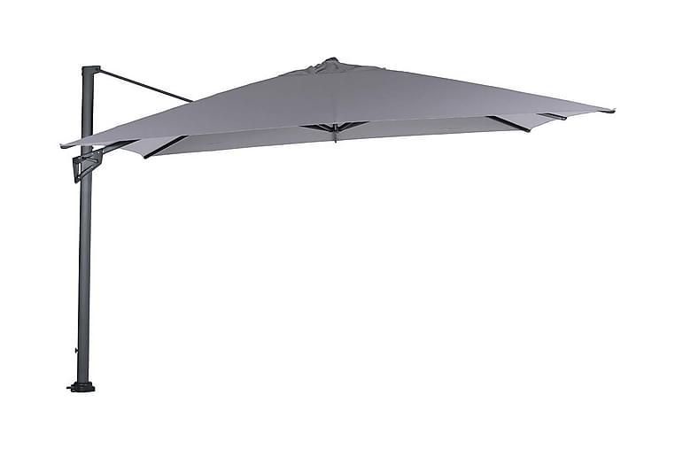 Aurinkovarjo Hawaii King Pole 400x400 cm Musta/Vaaleanharmaa - Garden Impressions - Puutarhakalusteet - Aurinkosuojat - Aurinkovarjot