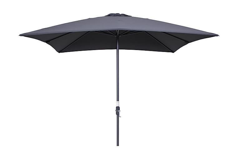Aurinkovarjo Lotus 250x250 cm Musta/Tummanharmaa - Garden Impressions - Puutarhakalusteet - Aurinkosuojat - Aurinkovarjot