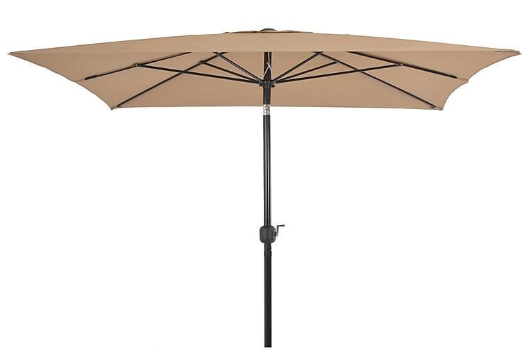 Aurinkovarjo metallirunko 300x200 cm harmaanruskea - Ruskea - Puutarhakalusteet - Aurinkosuojat - Aurinkovarjot