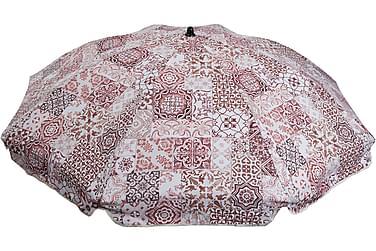 Aurinkovarjo Morocco Punainen/valkoinen