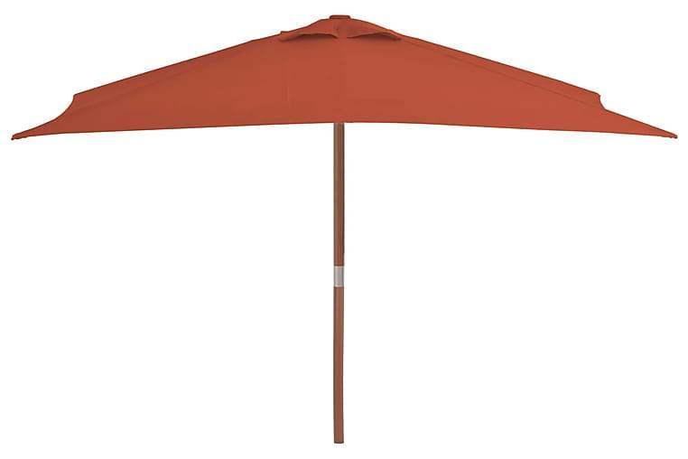 Aurinkovarjo puurunko 150x200 cm terrakotta - Oranssi - Puutarhakalusteet - Aurinkosuojat - Aurinkovarjot