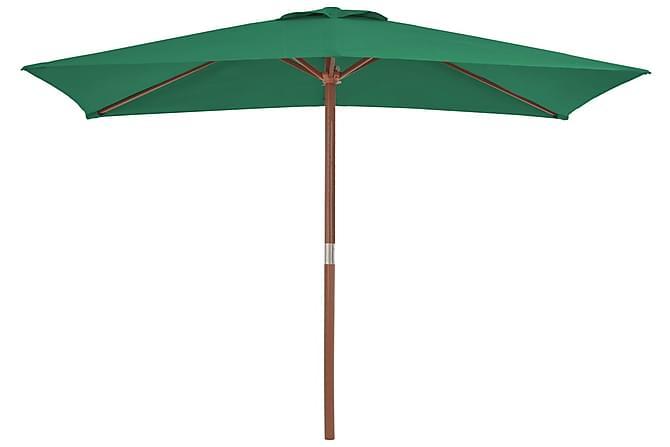 Aurinkovarjo puurunko 150x200 cm vihreä - Vihreä - Puutarhakalusteet - Aurinkosuojat - Aurinkovarjot