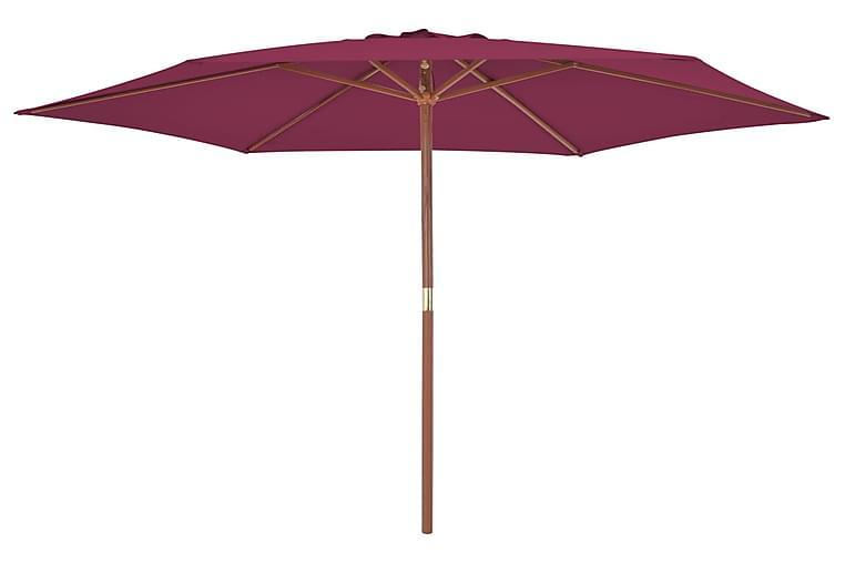 Aurinkovarjo puurunko 270 cm viininpunainen - Punainen - Puutarhakalusteet - Aurinkosuojat - Aurinkovarjot