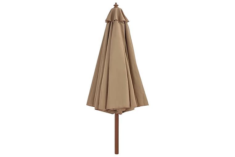 Aurinkovarjo puurunko 350 cm ruskeanharmaa - Ruskea - Puutarhakalusteet - Aurinkosuojat - Aurinkovarjot