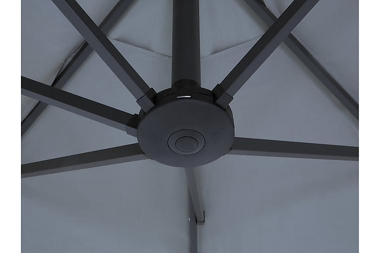 Aurinkovarjo Sibilla 247 cm - Harmaa - Puutarhakalusteet - Aurinkosuojat - Aurinkovarjot