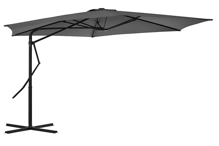Aurinkovarjo terästanko 300 cm antrasiitti - Antrasiitti - Puutarhakalusteet - Aurinkosuojat - Aurinkovarjot