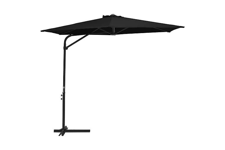Aurinkovarjo terästanko 300 cm musta - Musta - Puutarhakalusteet - Aurinkosuojat - Aurinkovarjot
