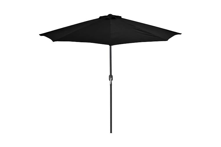 Aurinkovarjo ulkotiloihin alumiinitanko musta 270x135x245cm - Musta - Puutarhakalusteet - Aurinkosuojat - Aurinkovarjot