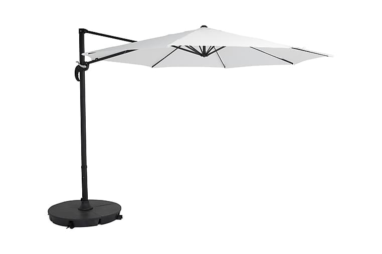 Aurinkovarjo Vienna 3 m - Valkoinen/Musta - Puutarhakalusteet - Aurinkosuojat - Aurinkovarjot