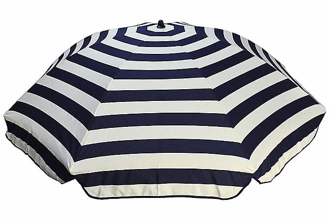 Bomulls aurinkovarjo 200 cm - Siniraidallinen - Puutarhakalusteet - Aurinkosuojat - Aurinkovarjot